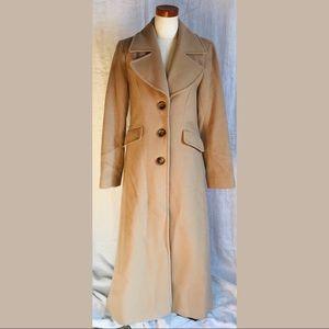 DKNY Full Lngth Coat Princess Wool & Cashmere SZ 4